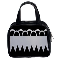 Noir Gender Flags Wave Waves Chevron Circle Black Grey Classic Handbags (2 Sides) by Mariart