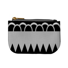 Noir Gender Flags Wave Waves Chevron Circle Black Grey Mini Coin Purses by Mariart
