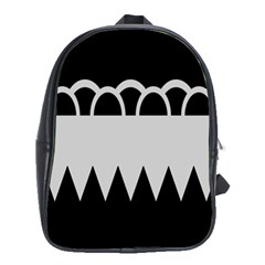 Noir Gender Flags Wave Waves Chevron Circle Black Grey School Bags(large)