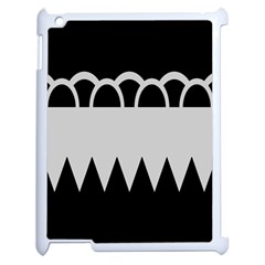 Noir Gender Flags Wave Waves Chevron Circle Black Grey Apple Ipad 2 Case (white) by Mariart