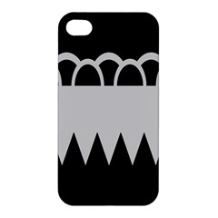 Noir Gender Flags Wave Waves Chevron Circle Black Grey Apple Iphone 4/4s Hardshell Case by Mariart