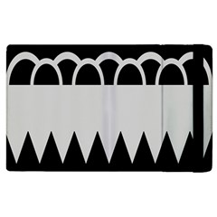 Noir Gender Flags Wave Waves Chevron Circle Black Grey Apple Ipad 3/4 Flip Case by Mariart