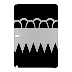 Noir Gender Flags Wave Waves Chevron Circle Black Grey Samsung Galaxy Tab Pro 10 1 Hardshell Case by Mariart