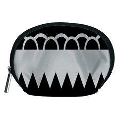 Noir Gender Flags Wave Waves Chevron Circle Black Grey Accessory Pouches (medium)  by Mariart