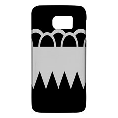Noir Gender Flags Wave Waves Chevron Circle Black Grey Galaxy S6 by Mariart