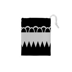 Noir Gender Flags Wave Waves Chevron Circle Black Grey Drawstring Pouches (xs)  by Mariart