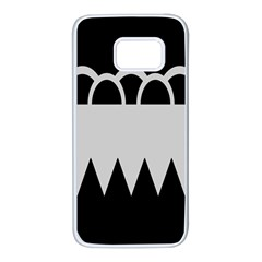 Noir Gender Flags Wave Waves Chevron Circle Black Grey Samsung Galaxy S7 White Seamless Case by Mariart
