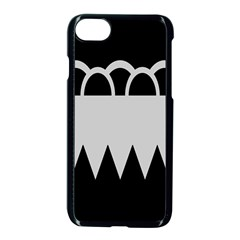 Noir Gender Flags Wave Waves Chevron Circle Black Grey Apple Iphone 7 Seamless Case (black) by Mariart