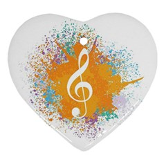 Musical Notes Ornament (heart) by Mariart