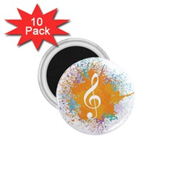 Musical Notes 1 75  Magnets (10 Pack)  by Mariart