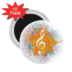 Musical Notes 2 25  Magnets (10 Pack)  by Mariart