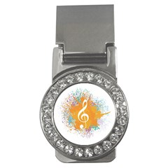 Musical Notes Money Clips (cz)  by Mariart