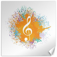 Musical Notes Canvas 12  X 12   by Mariart