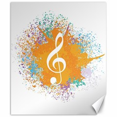 Musical Notes Canvas 20  X 24   by Mariart