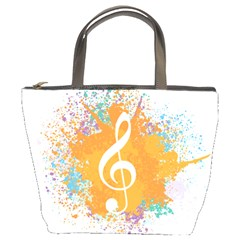 Musical Notes Bucket Bags by Mariart