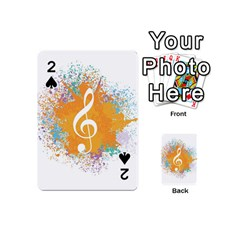 Musical Notes Playing Cards 54 (mini)  by Mariart