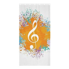 Musical Notes Shower Curtain 36  X 72  (stall)  by Mariart