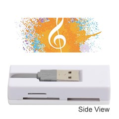 Musical Notes Memory Card Reader (stick)  by Mariart