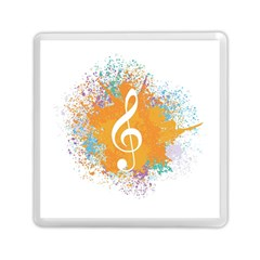 Musical Notes Memory Card Reader (square)  by Mariart