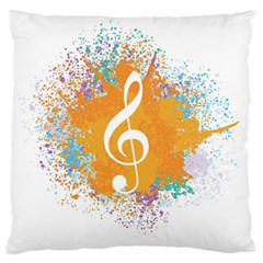 Musical Notes Large Cushion Case (two Sides)