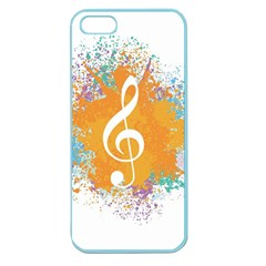 Musical Notes Apple Seamless Iphone 5 Case (color) by Mariart