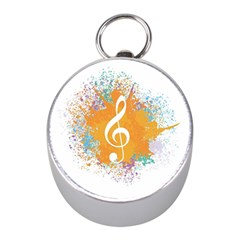 Musical Notes Mini Silver Compasses by Mariart