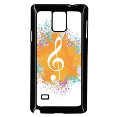 Musical Notes Samsung Galaxy Note 4 Case (black) by Mariart