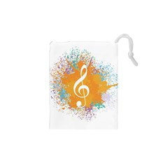 Musical Notes Drawstring Pouches (xs)  by Mariart