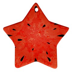 Summer Watermelon Design Star Ornament (two Sides) by TastefulDesigns