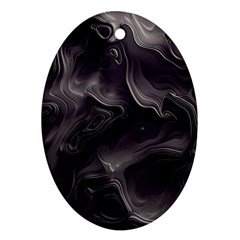 Map Curves Dark Ornament (oval) by Mariart