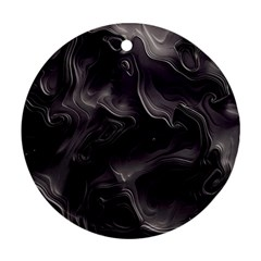 Map Curves Dark Round Ornament (two Sides) by Mariart