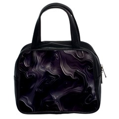 Map Curves Dark Classic Handbags (2 Sides) by Mariart