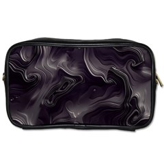 Map Curves Dark Toiletries Bags 2 Side by Mariart