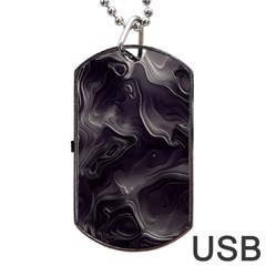 Map Curves Dark Dog Tag Usb Flash (two Sides) by Mariart
