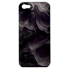 Map Curves Dark Apple Iphone 5 Hardshell Case by Mariart