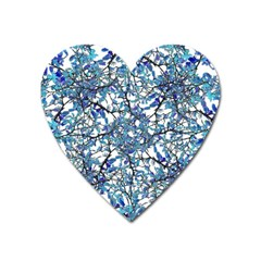 Modern Nouveau Pattern Heart Magnet by dflcprints