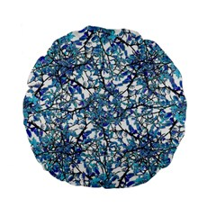 Modern Nouveau Pattern Standard 15  Premium Flano Round Cushions by dflcprints