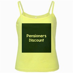 Pensioners Discount Sale Blue Yellow Spaghetti Tank by Mariart