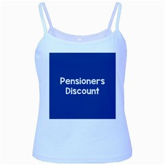 Pensioners Discount Sale Blue Baby Blue Spaghetti Tank by Mariart