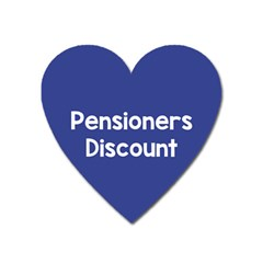 Pensioners Discount Sale Blue Heart Magnet by Mariart