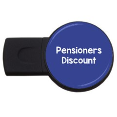 Pensioners Discount Sale Blue Usb Flash Drive Round (2 Gb) by Mariart