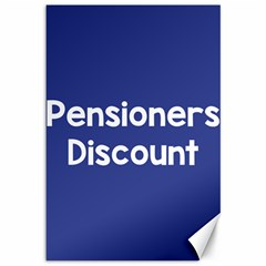 Pensioners Discount Sale Blue Canvas 12  X 18   by Mariart
