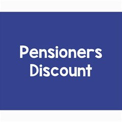 Pensioners Discount Sale Blue Canvas 16  X 20   by Mariart