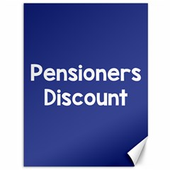 Pensioners Discount Sale Blue Canvas 36  X 48   by Mariart