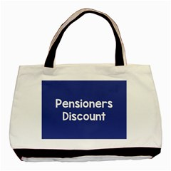 Pensioners Discount Sale Blue Basic Tote Bag (two Sides) by Mariart