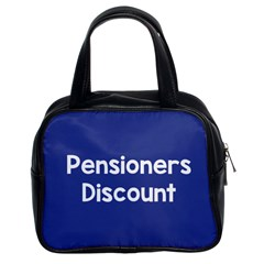Pensioners Discount Sale Blue Classic Handbags (2 Sides) by Mariart