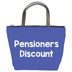 Pensioners Discount Sale Blue Bucket Bags by Mariart