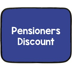 Pensioners Discount Sale Blue Double Sided Fleece Blanket (mini)