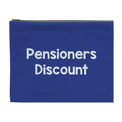 Pensioners Discount Sale Blue Cosmetic Bag (xl) by Mariart