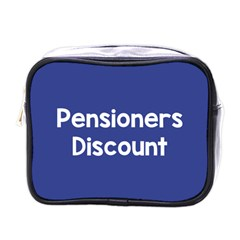 Pensioners Discount Sale Blue Mini Toiletries Bags